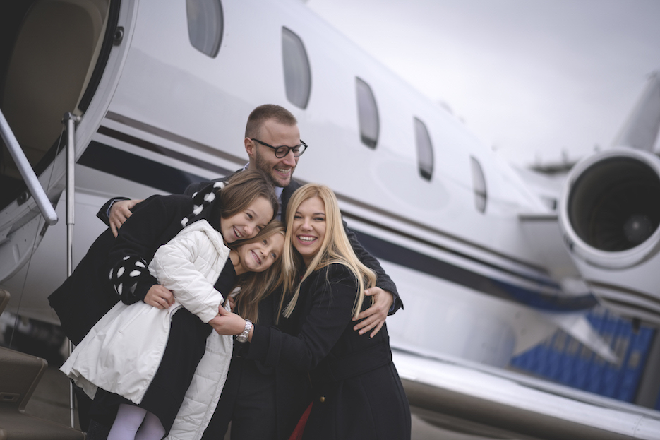 private jet hire for families